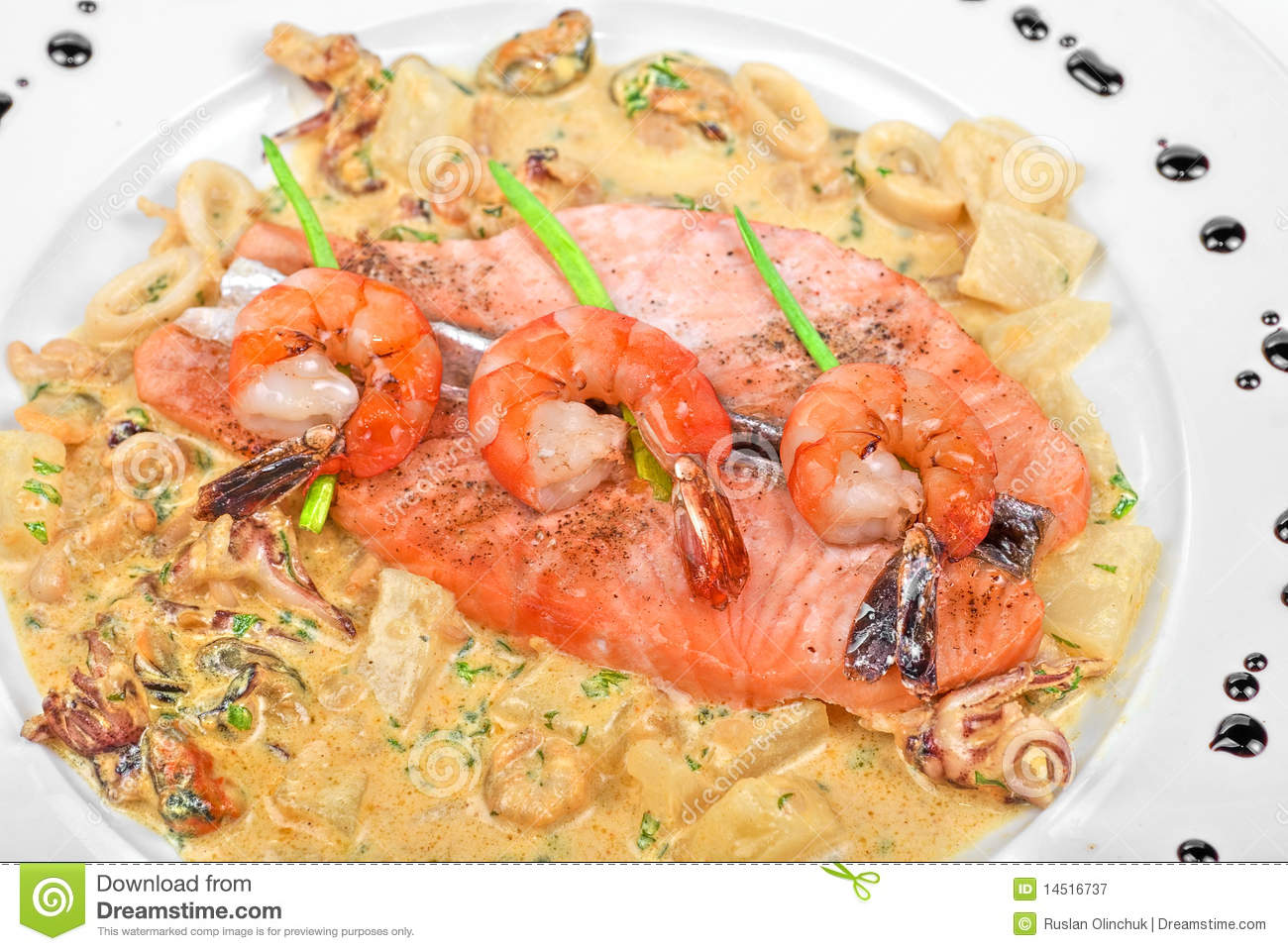 Salmon fish and seafood royalty free stock photography for Fish and seafood