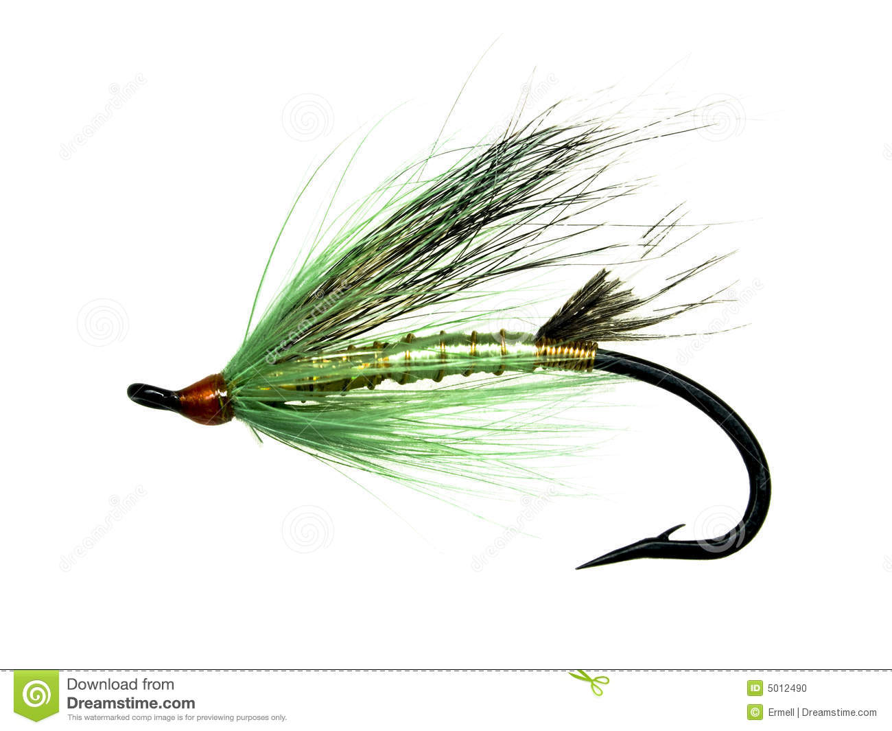 Salmon fly stock photo image of feathers hook fishing for Fly fishing feathers