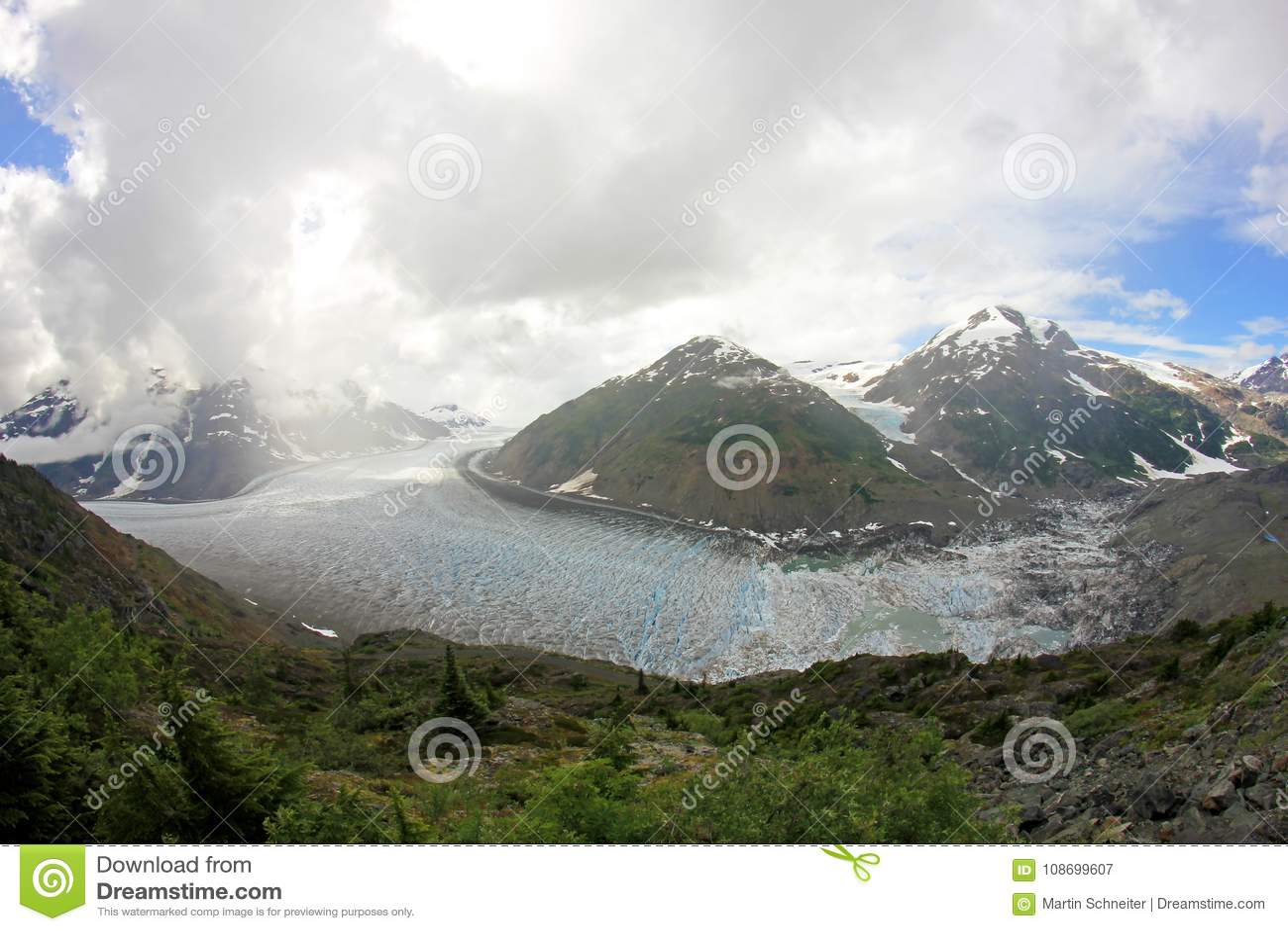 Salmon Glacier Near Hyder Alaska And Stewart
