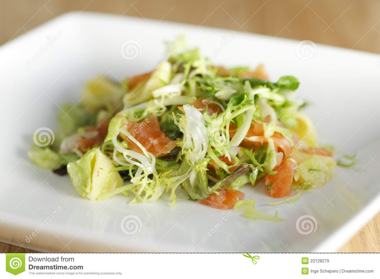 Salmon Pasta Salad Royalty Free Stock Images - Image: 22128279