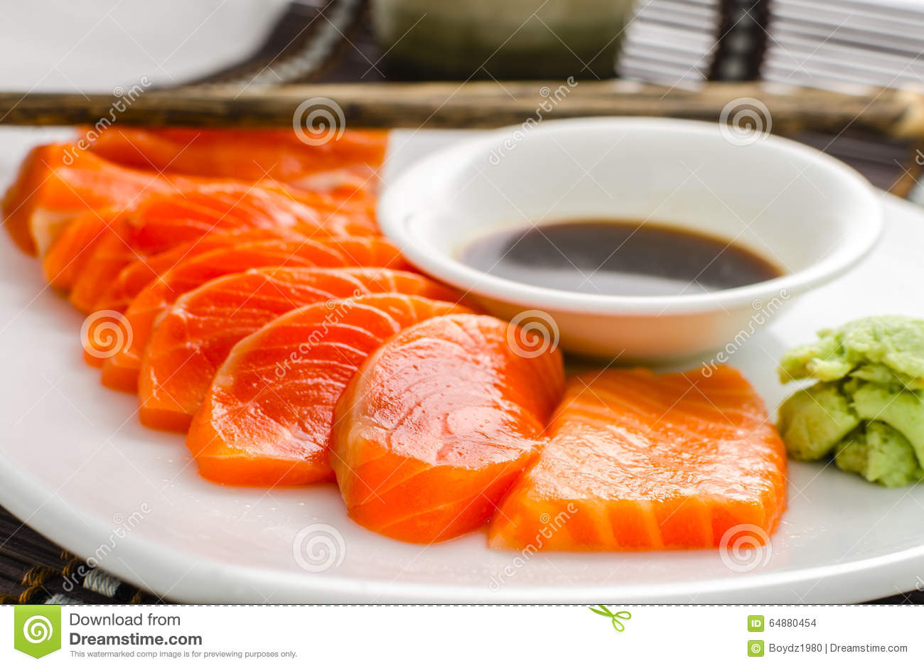 Salmon red fish sashimi stock photo image of cooking for Red fish sauce