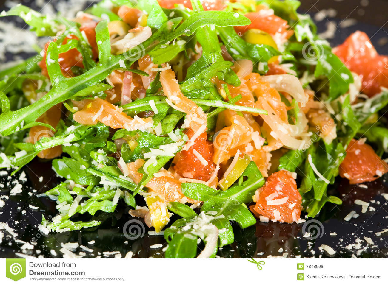 Salmon Salad Royalty Free Stock Image - Image: 8848906