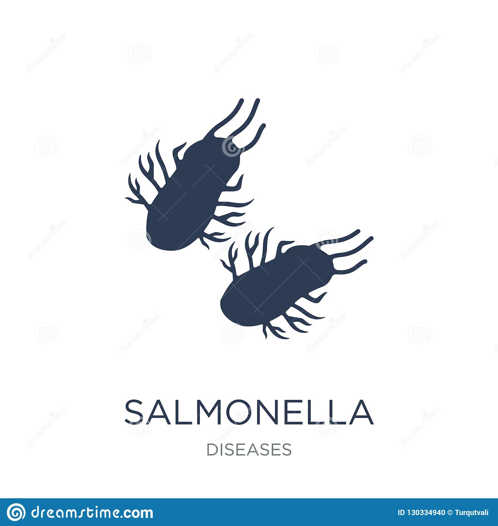 Salmonella icon. Trendy flat vector Salmonella icon on white background from Diseases collection