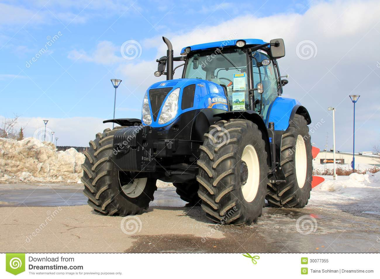 blue new holland agricultural tractor editorial image image of