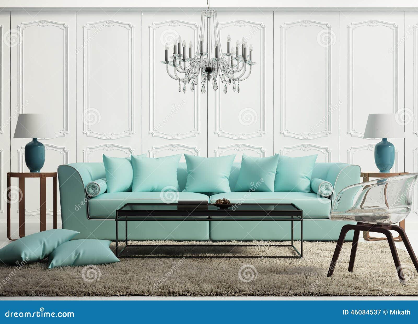 salon baroque l gant vert clair image stock image du. Black Bedroom Furniture Sets. Home Design Ideas