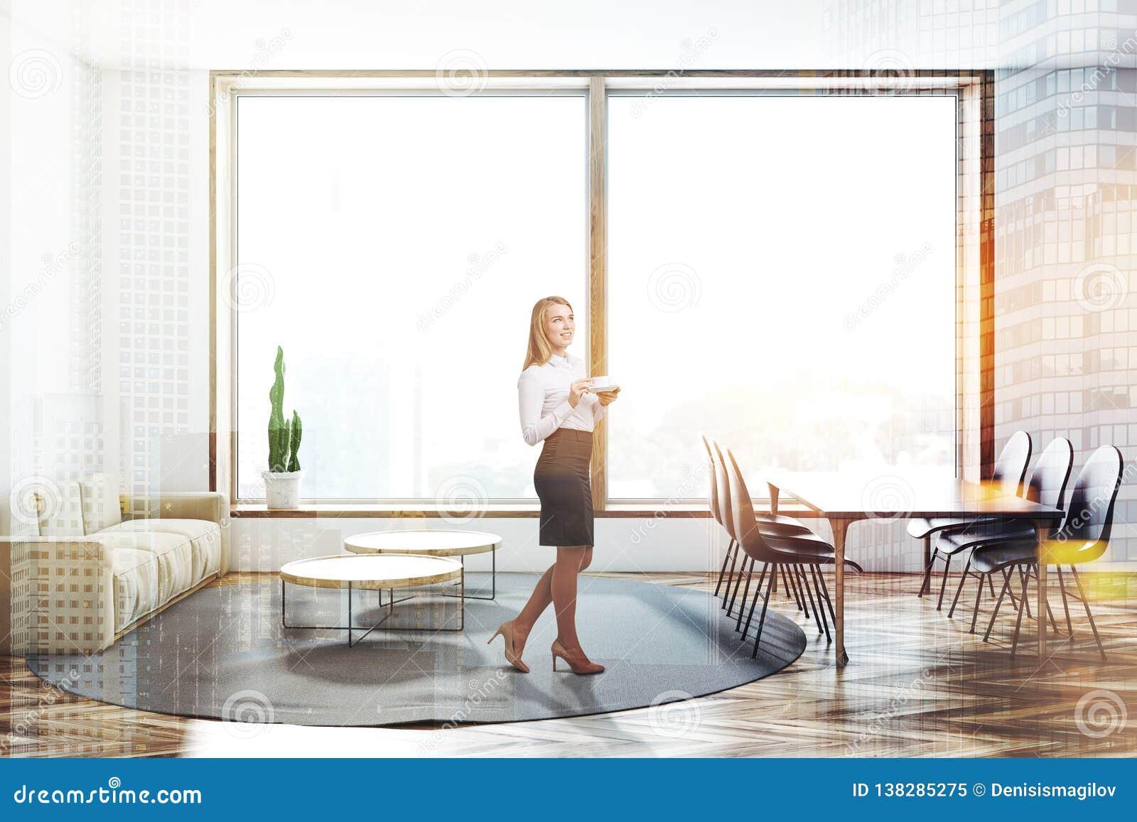 Image Blanc Image stock Salle à du Salon Et MangerFemme DH29IEW
