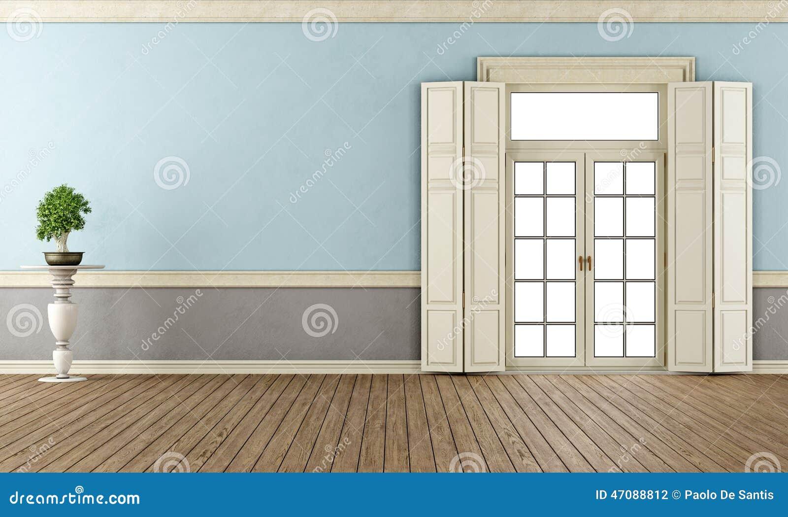 Salon classique bleu et gris illustration stock   image: 47088812