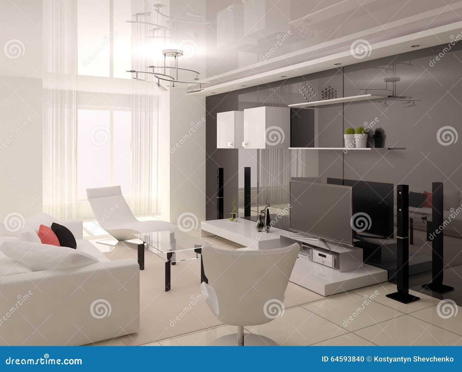 Salon confortable fonctionnel