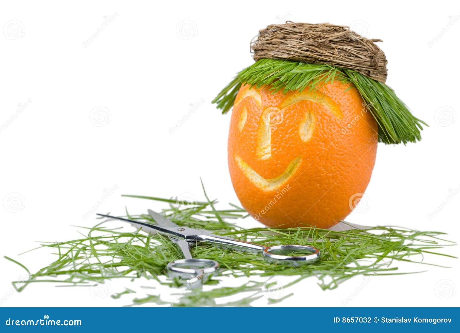 Salon d orange de cheveu de poupée