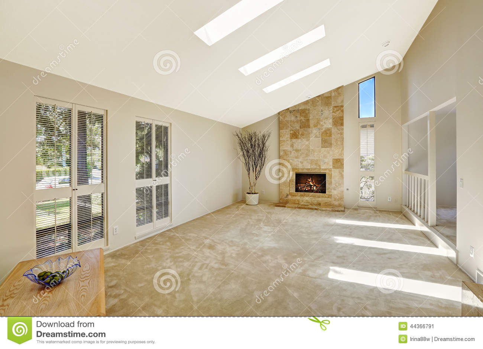 Salon de beautitful avec le plafond vo t et les lucarnes for Plafond de salon