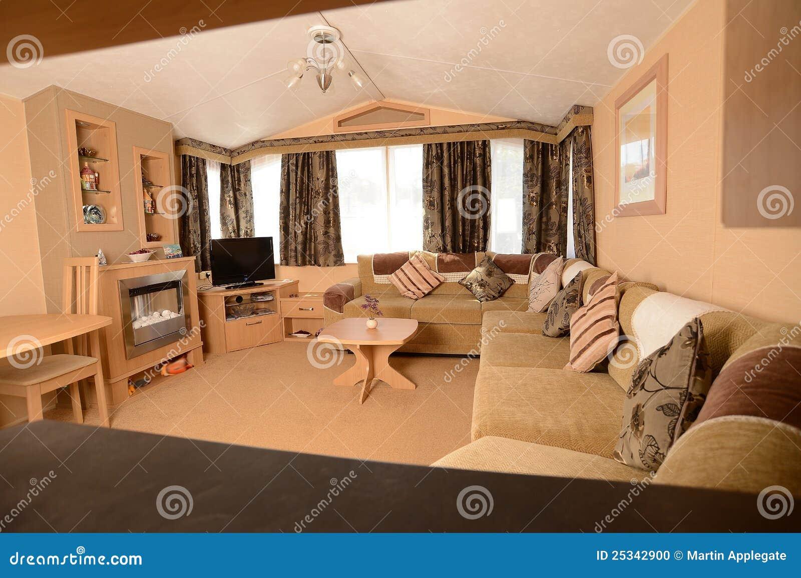 Salon de caravane r sidentielle photo stock image 25342900 for Decoration interieur de mobil home