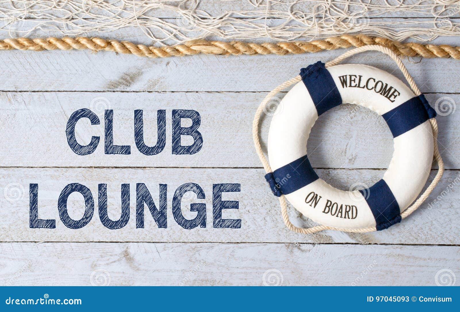 Salon de club - accueil à bord