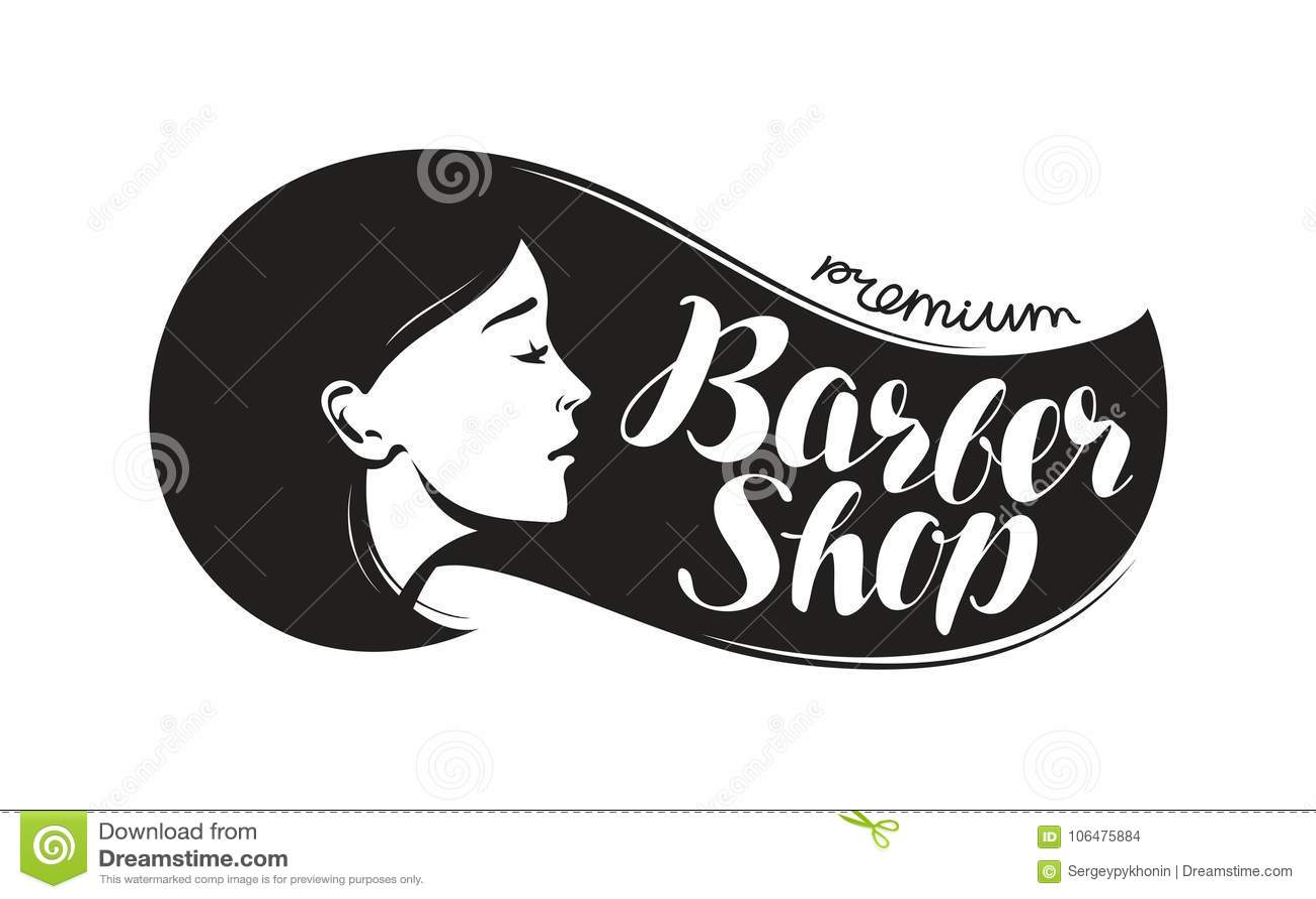 Salon De Coiffure Logo Ou Label Salon De Beauté Conception