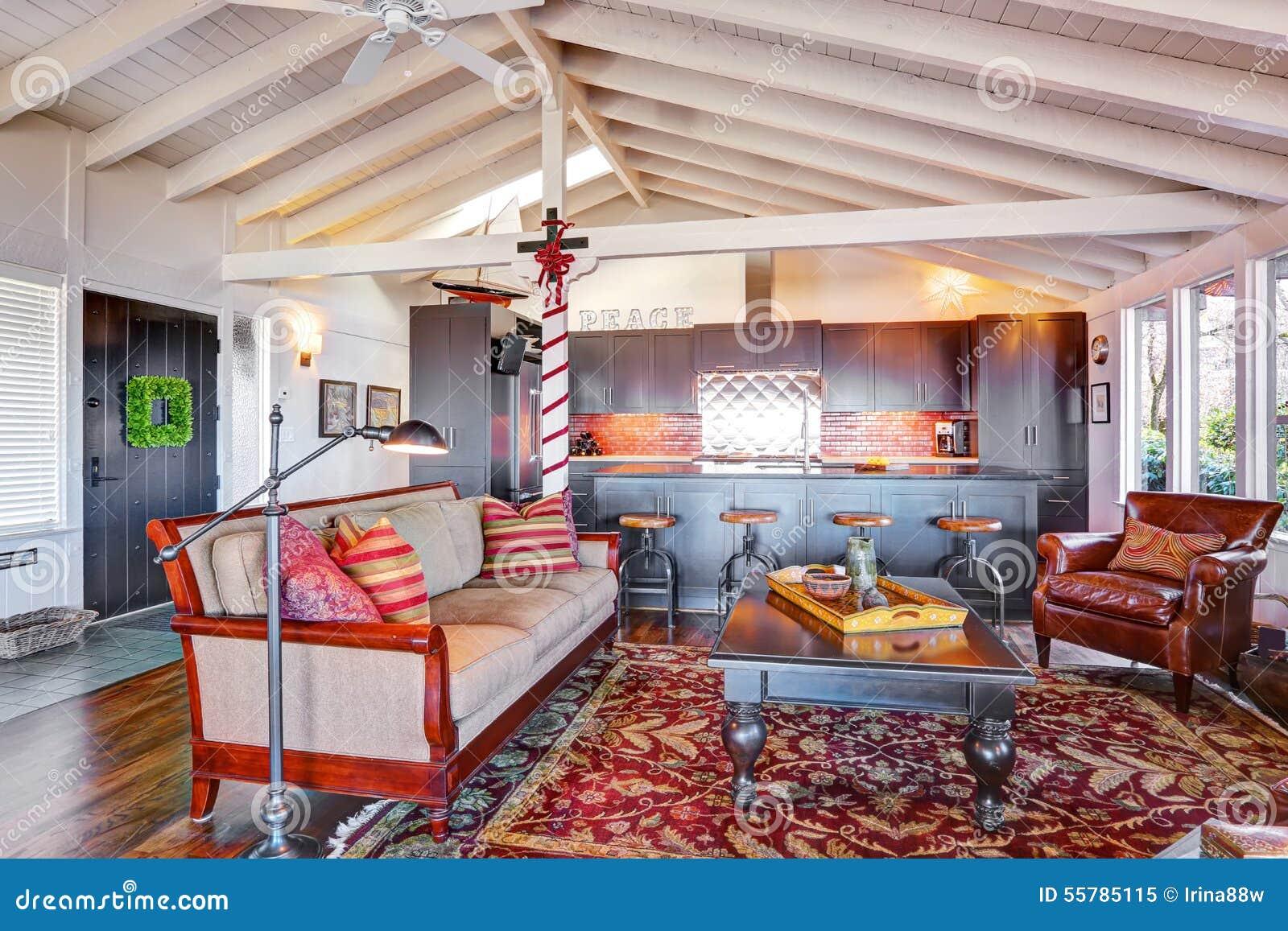 salon de georgeous avec le dcor de nol et l amricain classique - Salon Americain