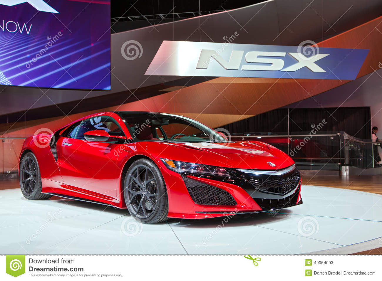salon de l 39 auto 2016 d 39 acura nsx detroit photo stock ditorial image du affichage am ricain. Black Bedroom Furniture Sets. Home Design Ideas
