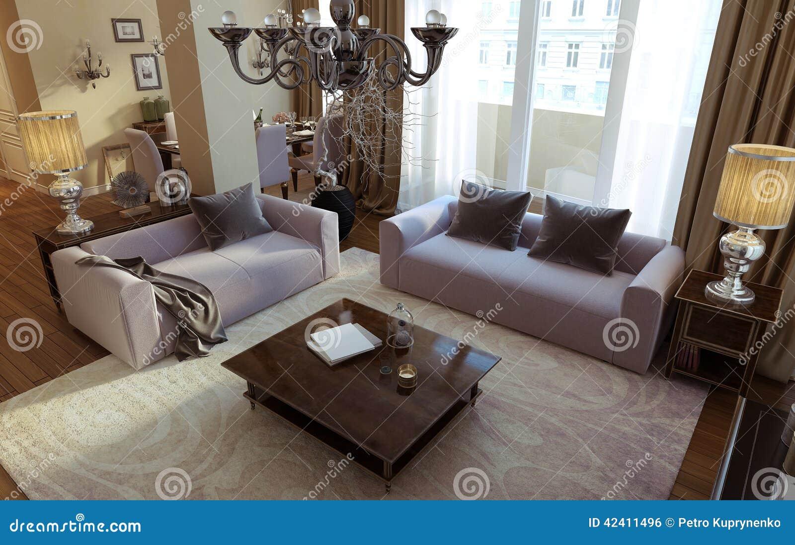 salon de luxe salle à manger style d art déco 42411496 17 Impressionnant Table A Manger Salon Hdj5