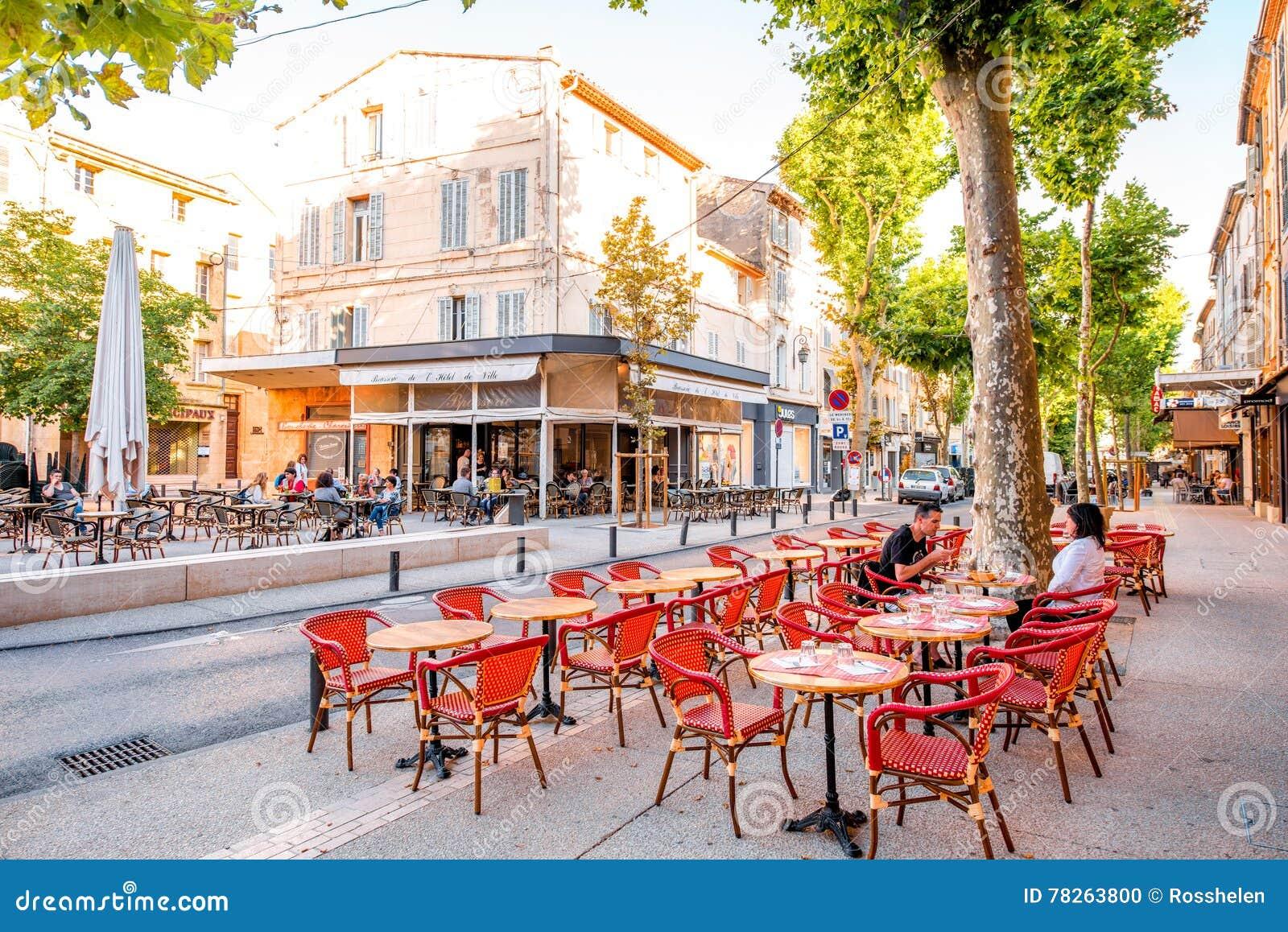Salon de provence city in france editorial image image - Caf salon de provence ...