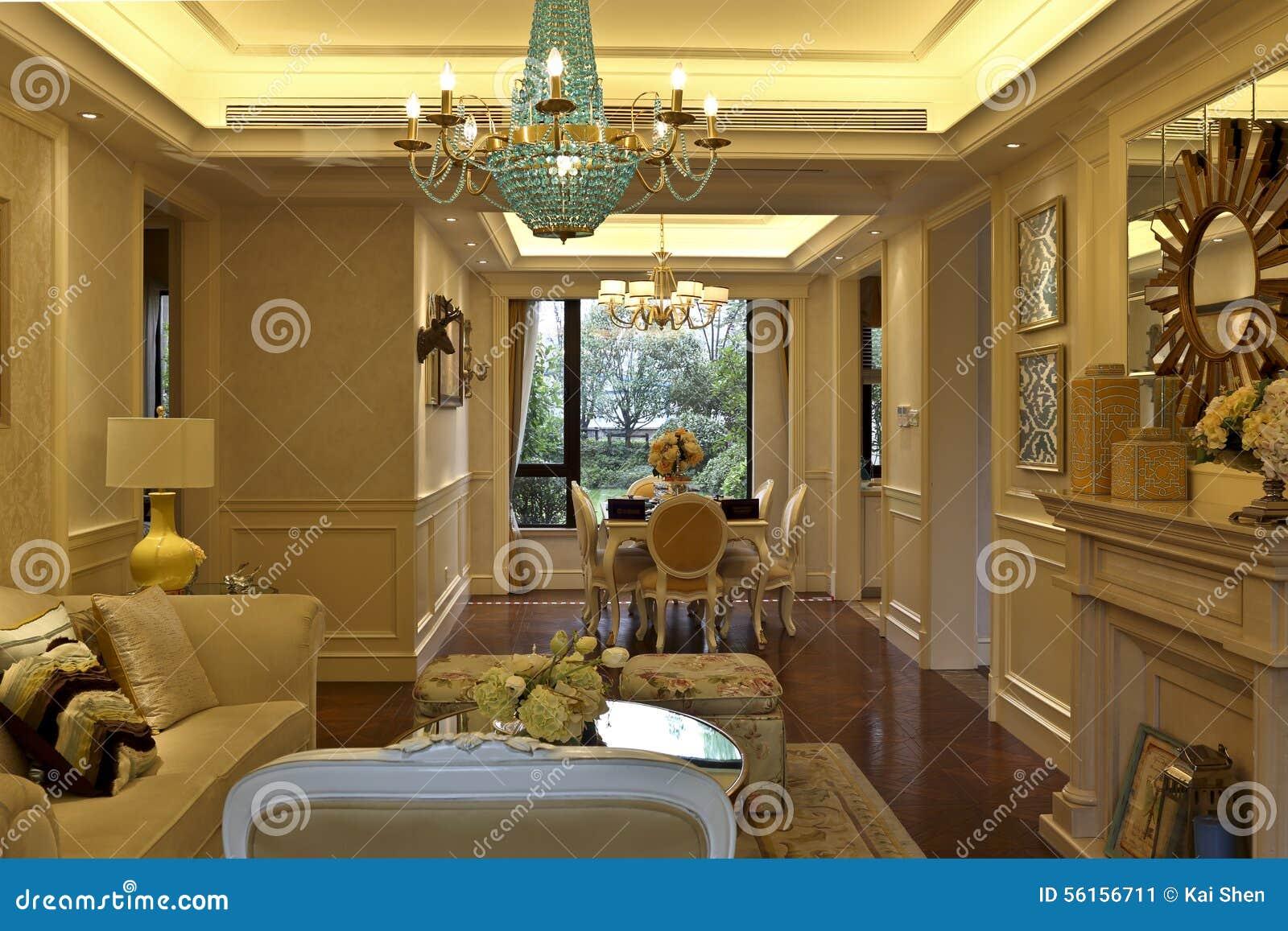 Salon Doux De Pièce D\'exemple D\'appartement Image stock - Image du ...