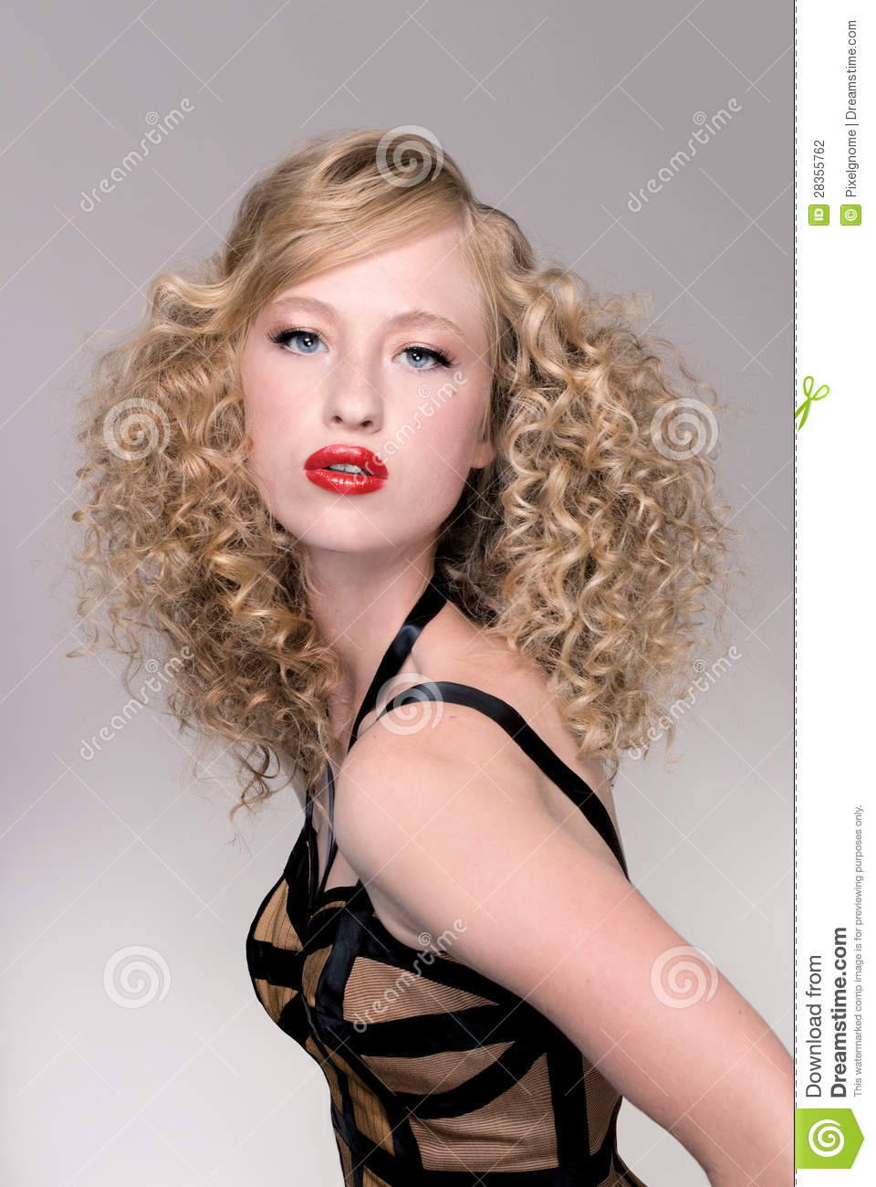 salon fashion hair model stock photo image of young