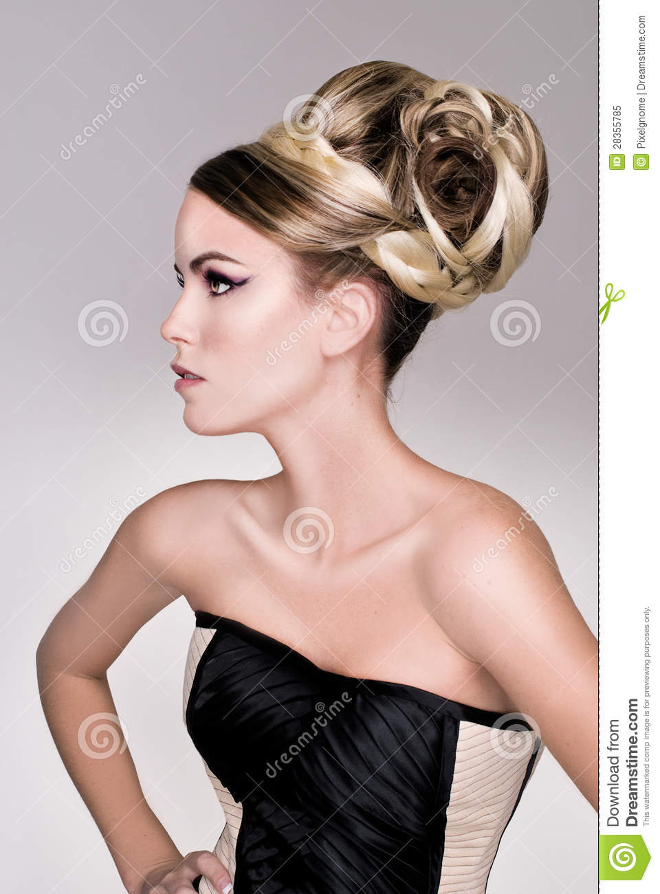 Salon fashion hair model royalty free stock photo image for Photo salon