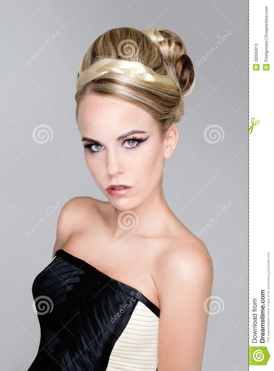 salon fashion hair model stock photos image 28355813