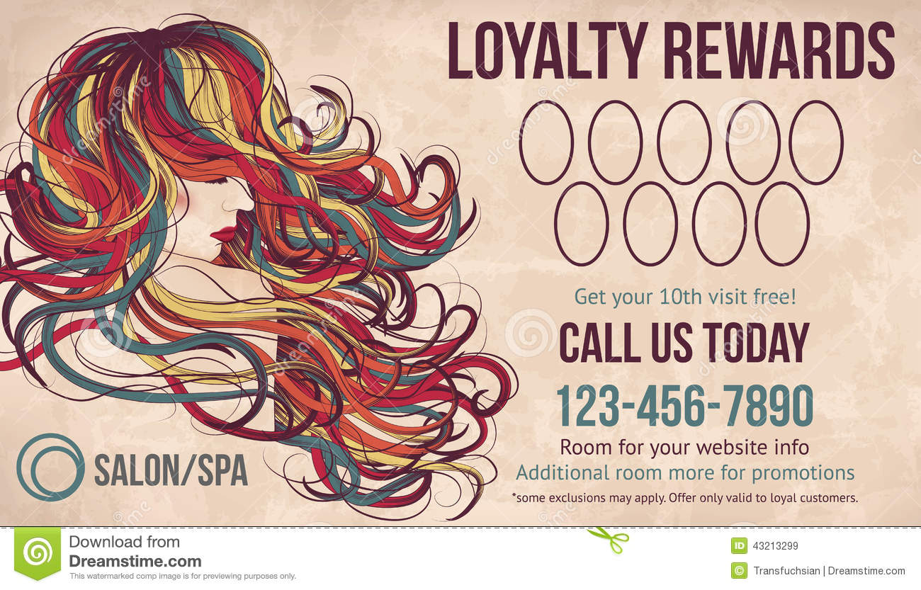 Salon loyalty rewards card template stock vector image 43213299 salon loyalty rewards card template royalty free vector magicingreecefo Images