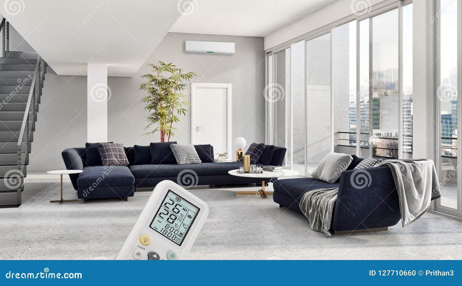 Salon Lumineux Moderne D\'appartement D\'intérieurs Avec L\'état D\'air ...