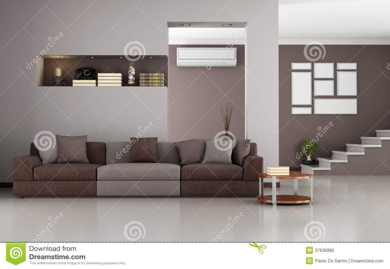 Salon moderne beige et brun photo stock image 37636880 for Photo salon moderne