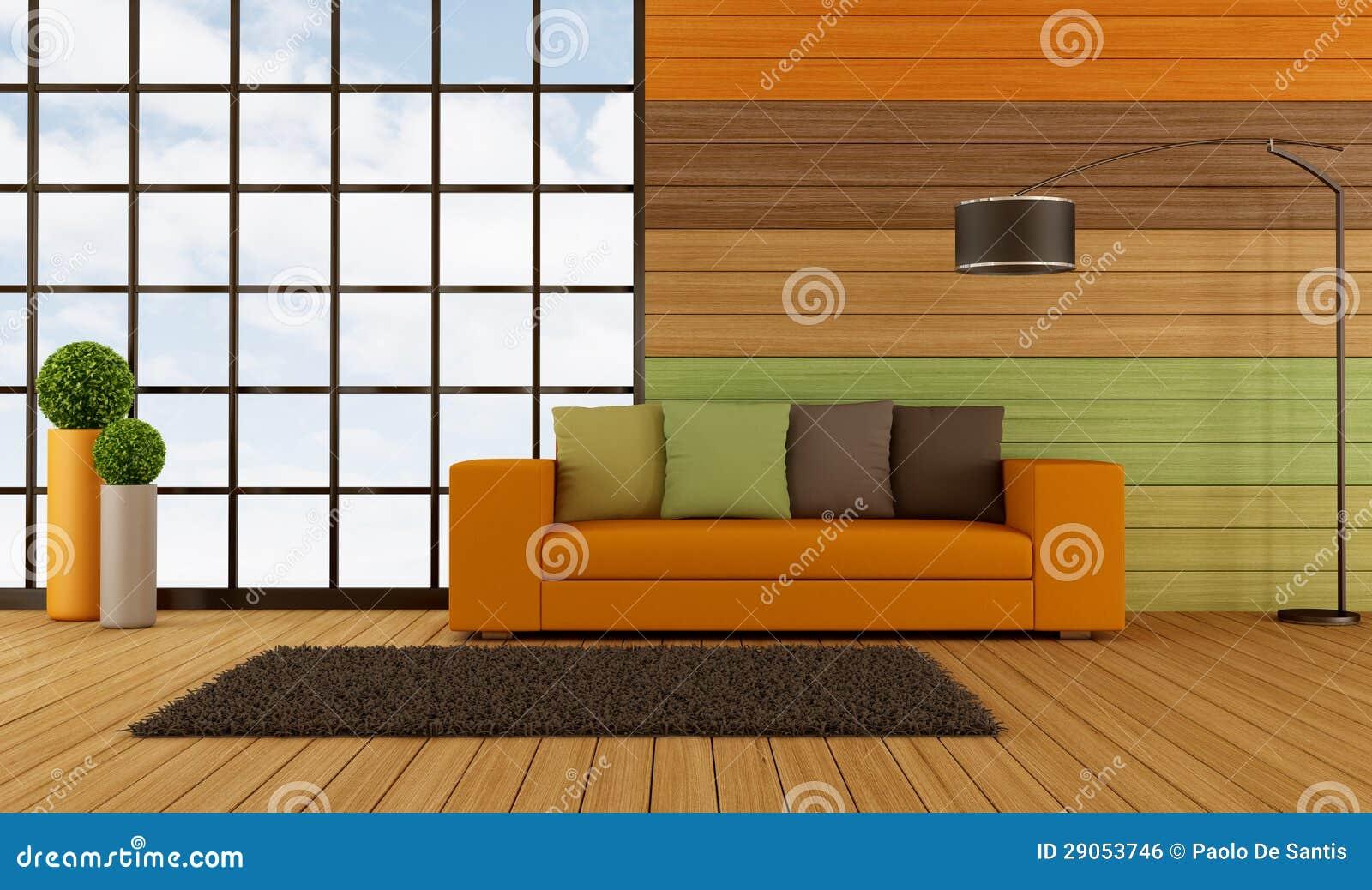 Salon moderne coloré illustration stock. Illustration du moderne ...