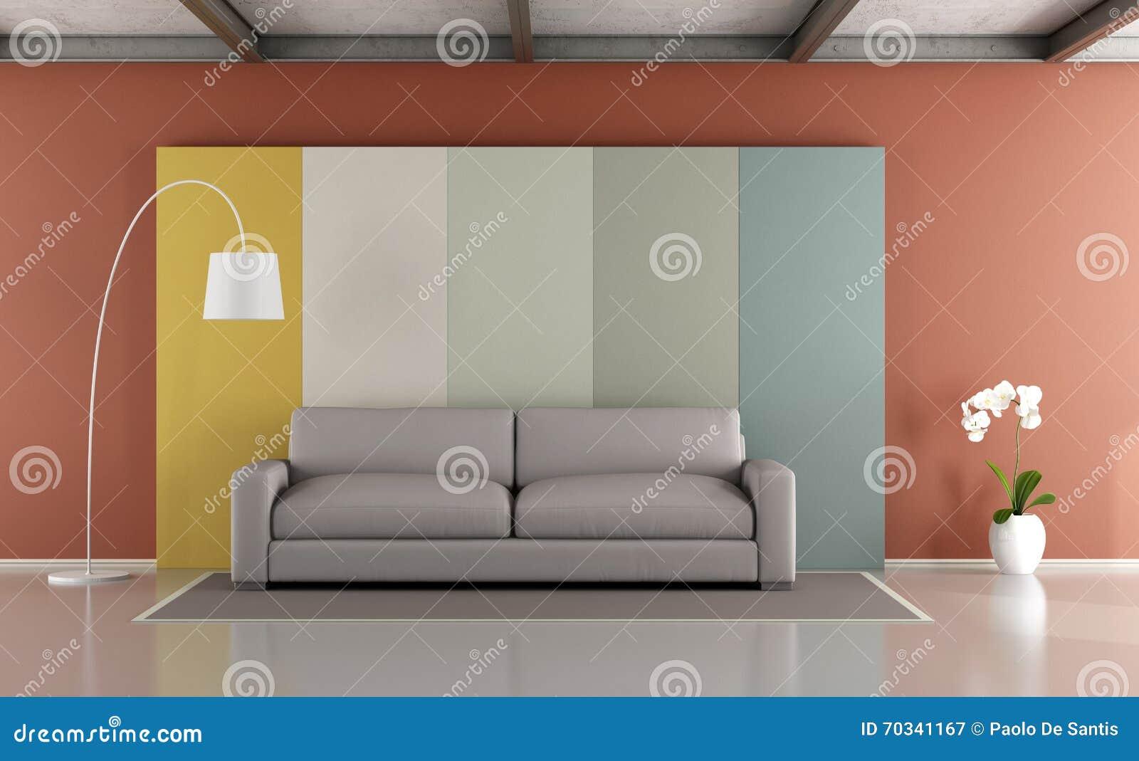 Salon moderne coloré illustration stock. Illustration du ...