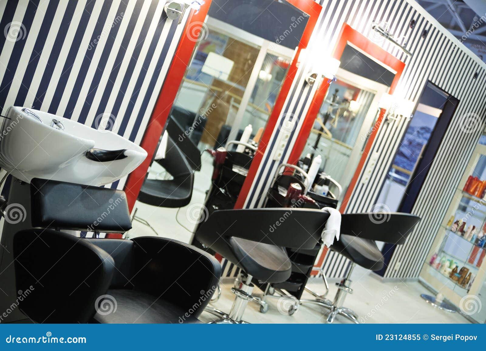 Salon moderne de coiffure photo libre de droits image 23124855 for Salon moderne coiffeur