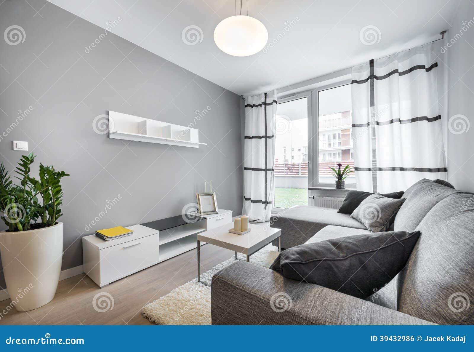 Salon moderne de conception intérieure