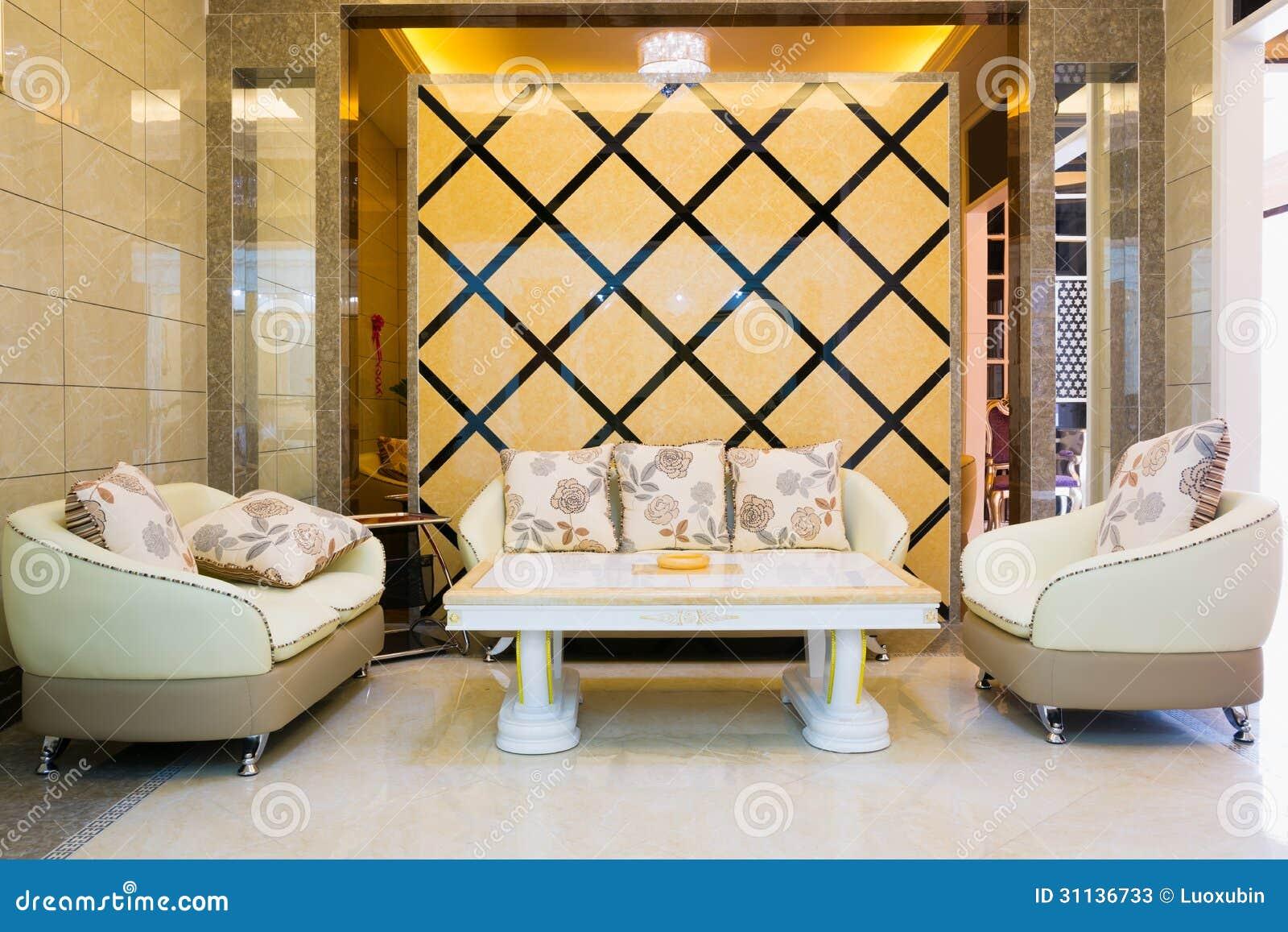 salon moderne de luxe photos stock image 31136733. Black Bedroom Furniture Sets. Home Design Ideas