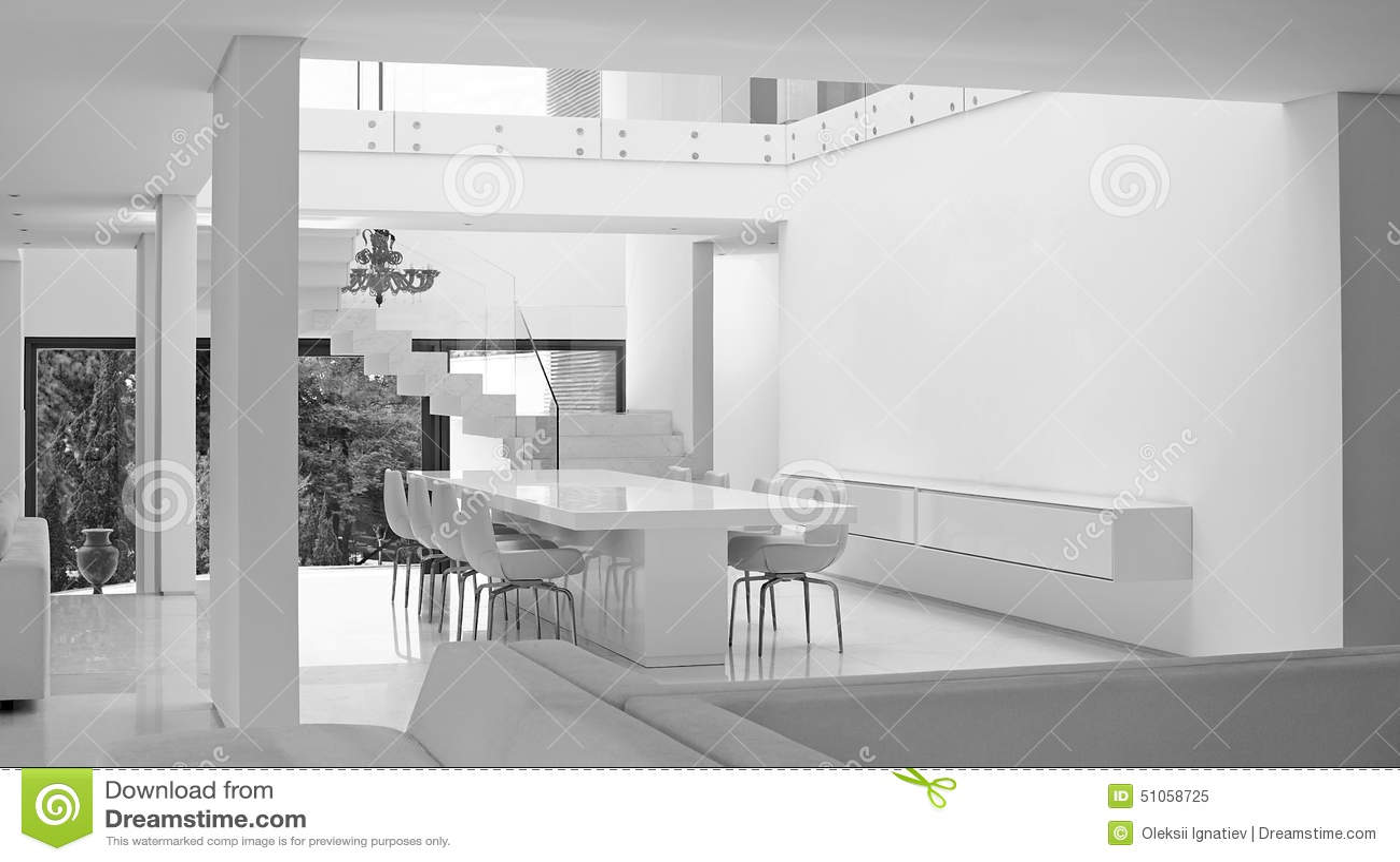 Salon moderne de luxe avec la d coration 2 photo stock image 51058725 for Salon moderne luxe