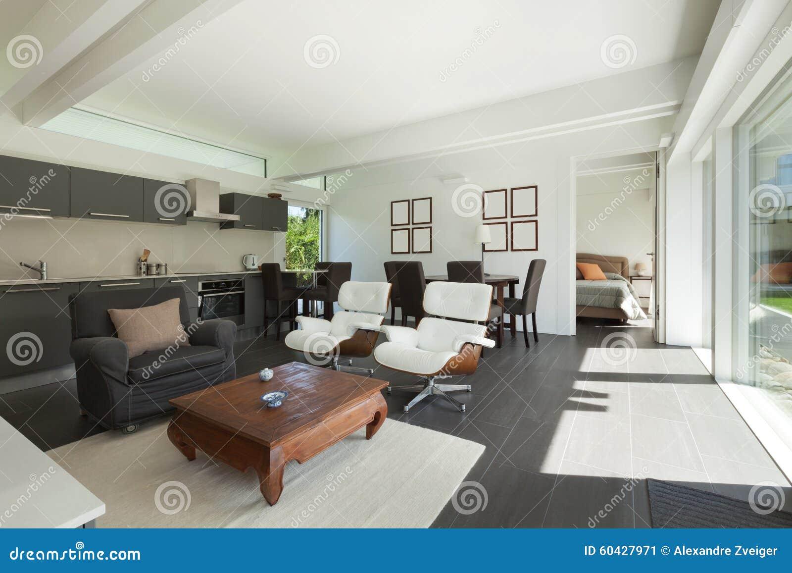 Salon moderne meublé