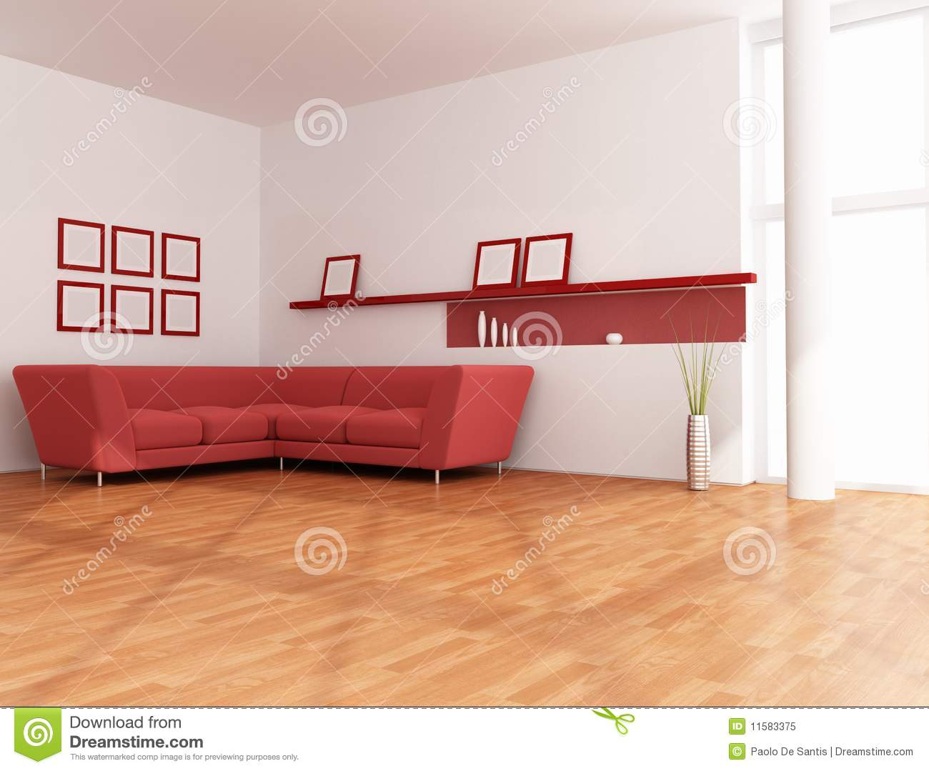 salon rouge et blanc minimaliste stock illustrations. Black Bedroom Furniture Sets. Home Design Ideas
