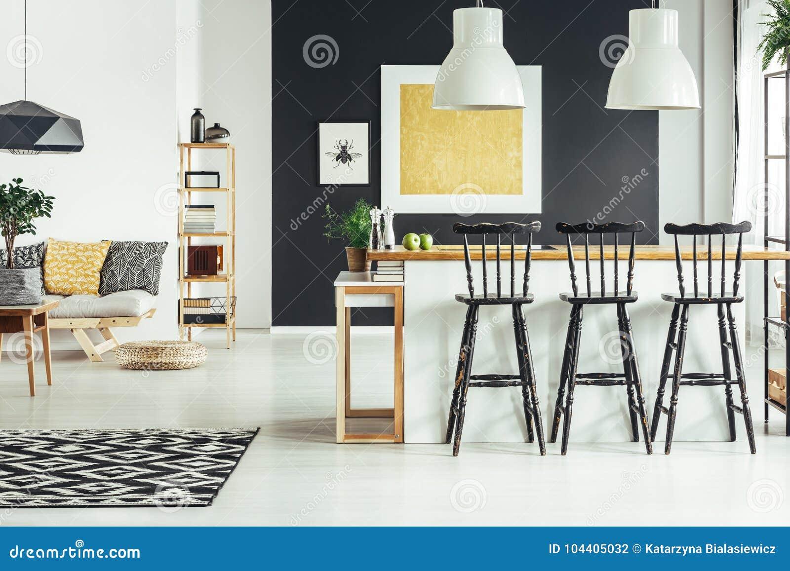 Salon Rustique Contemporain Photo stock - Image du ...