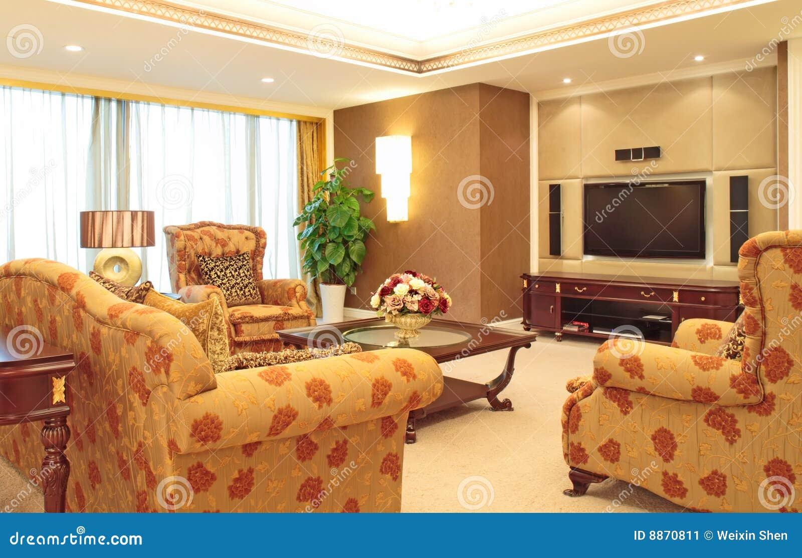 Salone immagine stock immagine di largamente arredamento for Stock arredamento