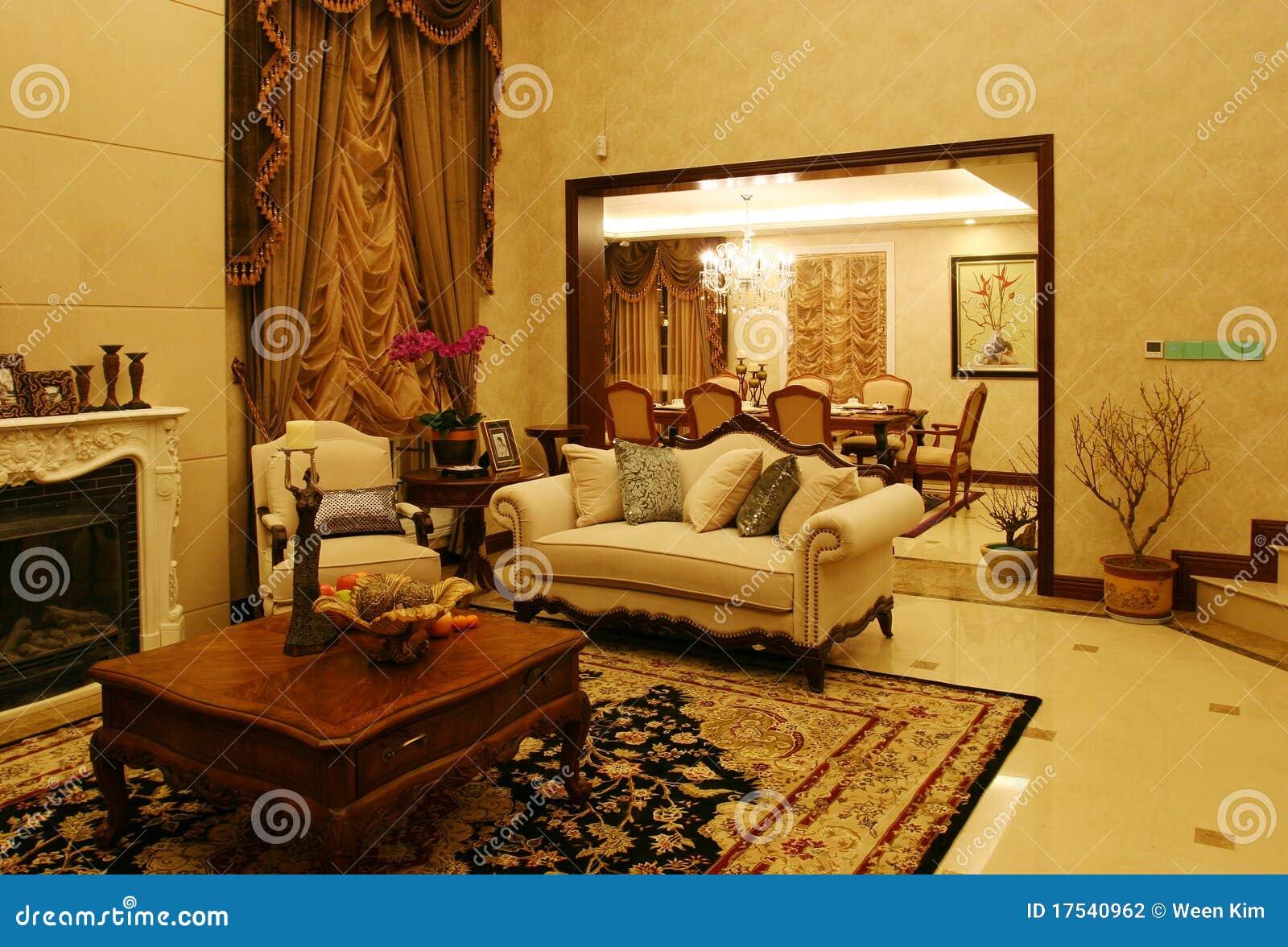 salone classico fotografia stock immagine di armadietto