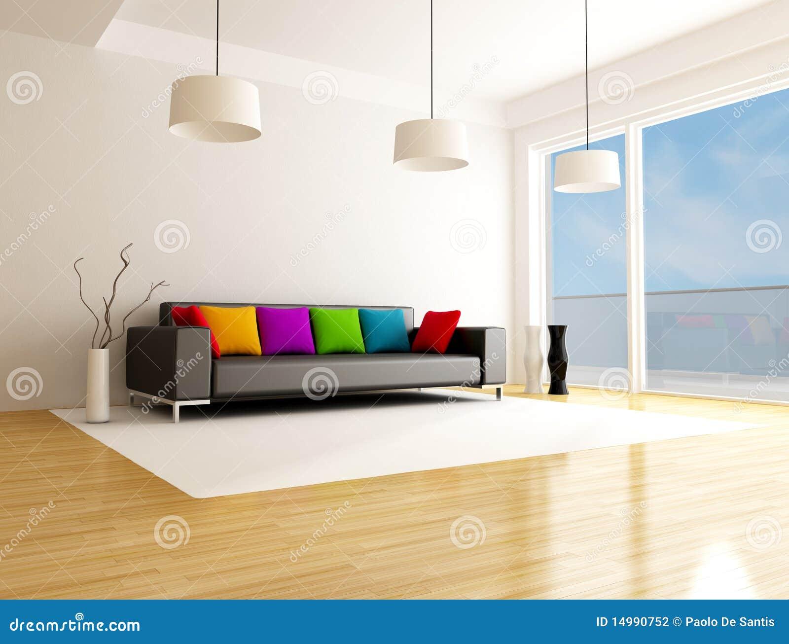 Salone colorato moderno fotografia stock immagine 14990752 for Salone moderno