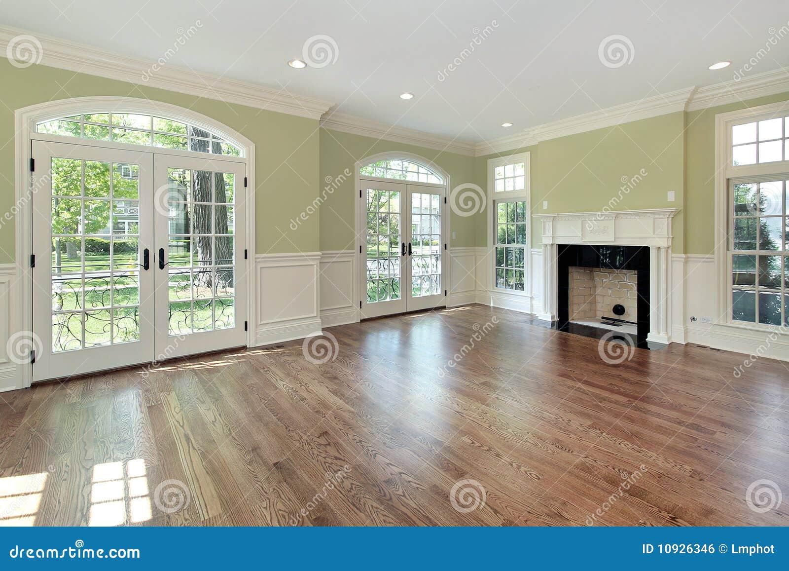 Salone con le pareti verdi fotografia stock immagine di for Pareti salone
