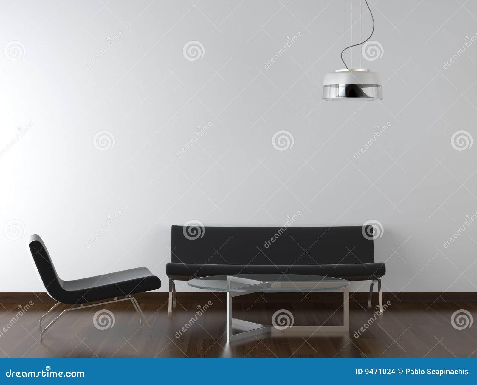 Salone del nero di disegno interno