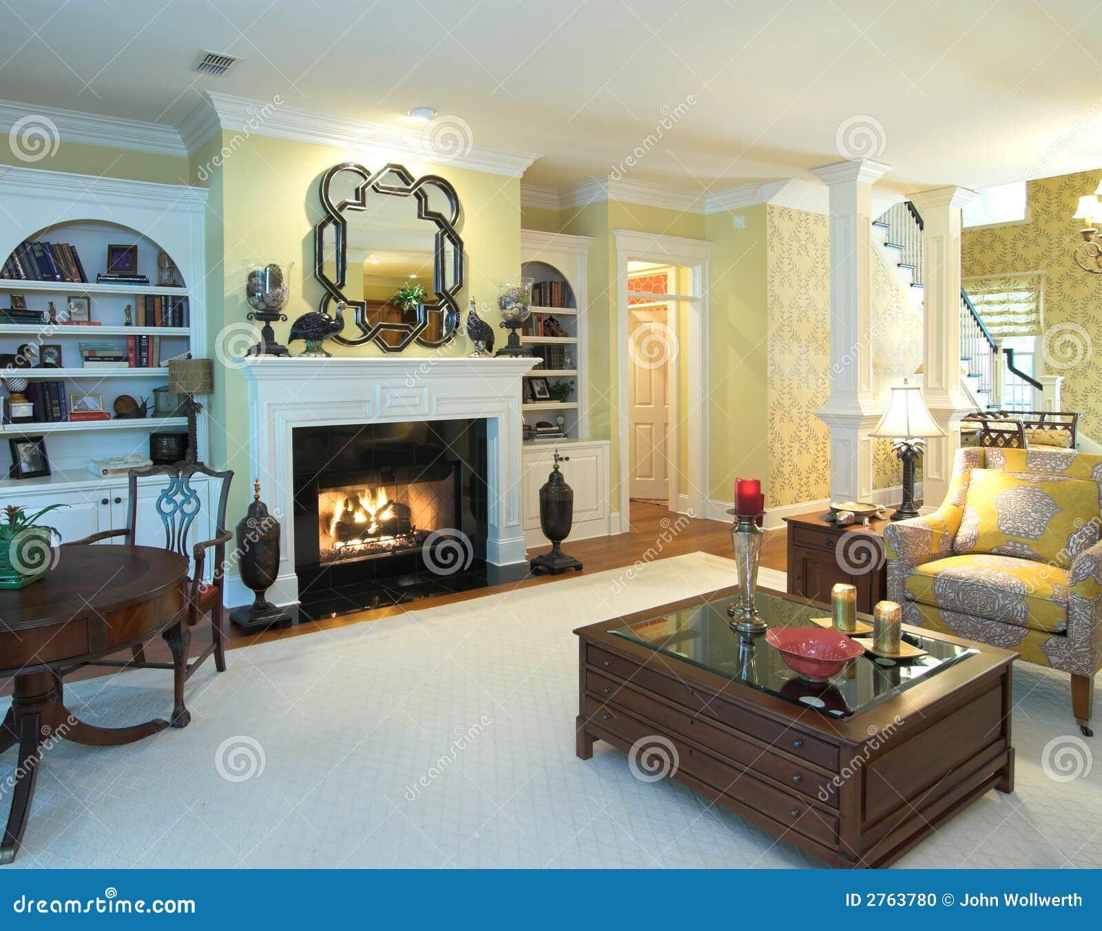 Salone di lusso fotografia stock immagine di stanza casa for Foto di saloni