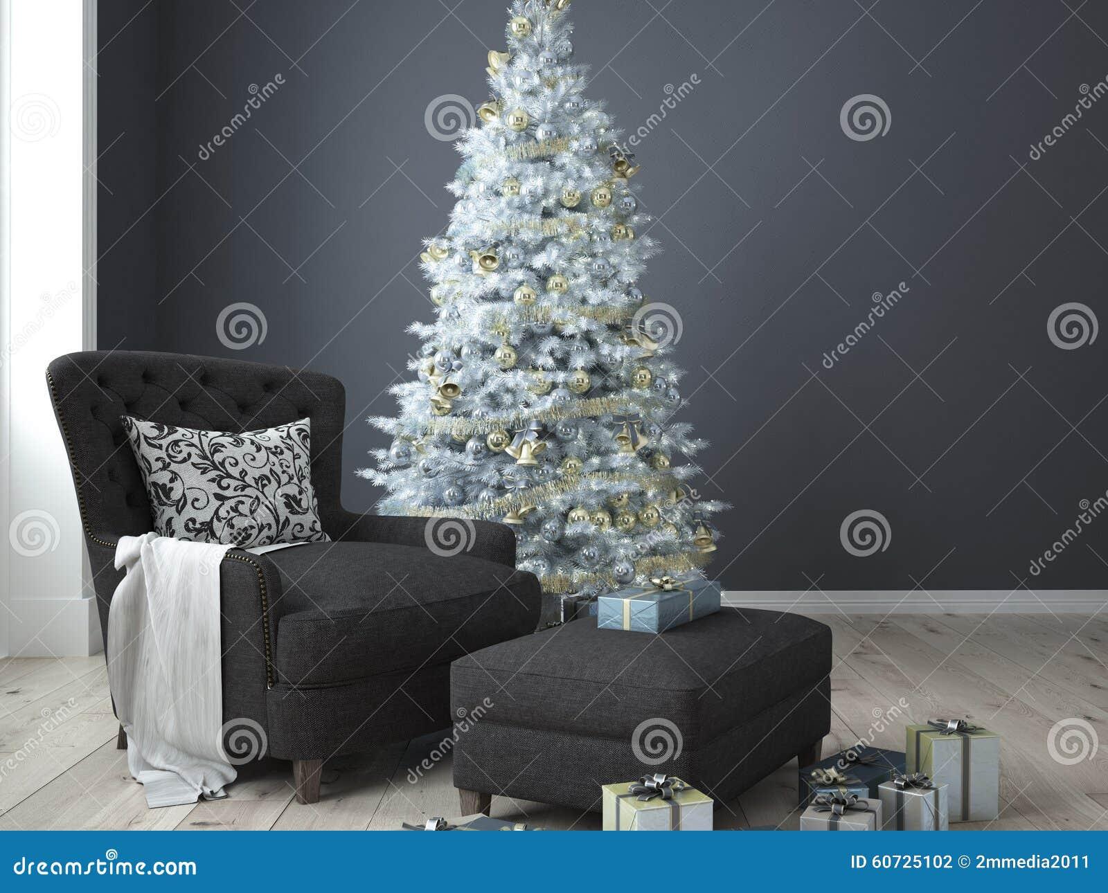 Salone di Natale rappresentazione 3d