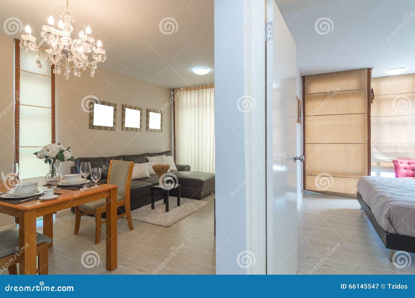 Salone e camera da letto interni di lusso immagine stock for Interni salone