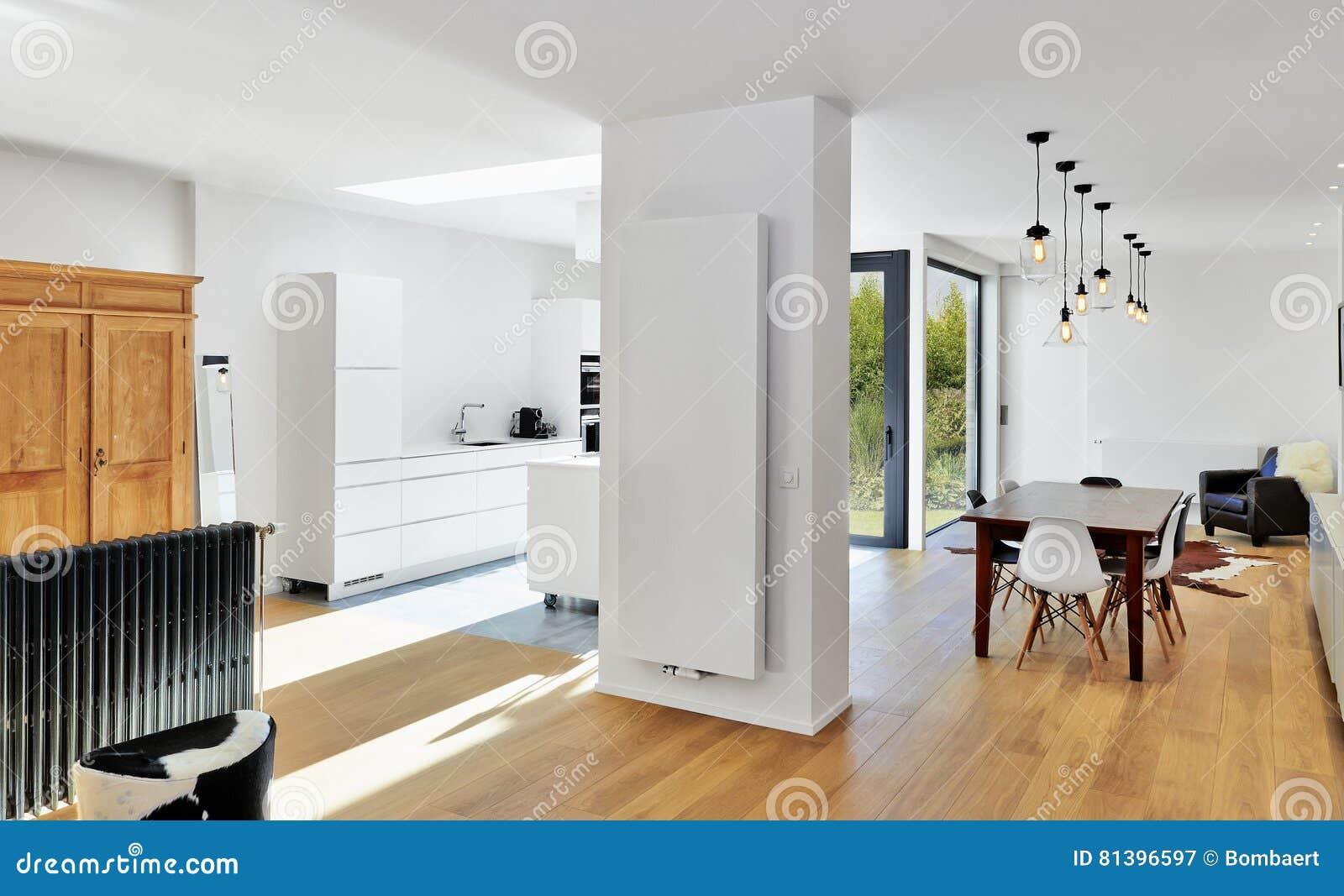 Salone E Cucina Di Lusso Moderni Immagine Stock - Immagine di ...