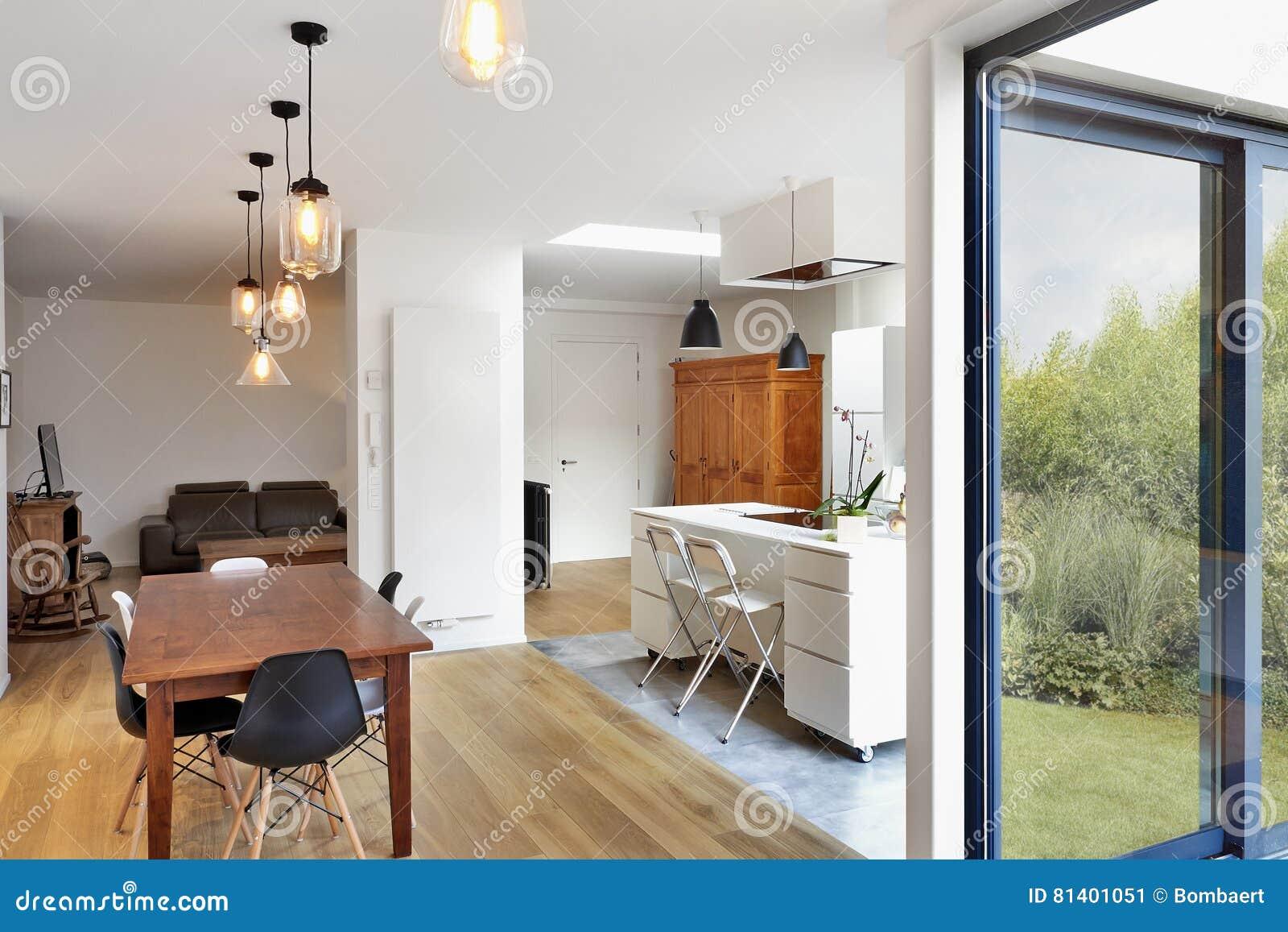 Salone e cucina di lusso moderni fotografia stock - Cucina di lusso ...
