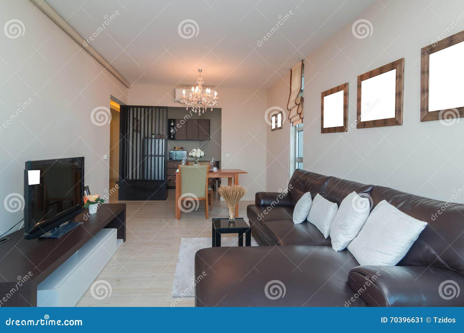 Salone e cucina interni di lusso immagine stock immagine for Interni salone