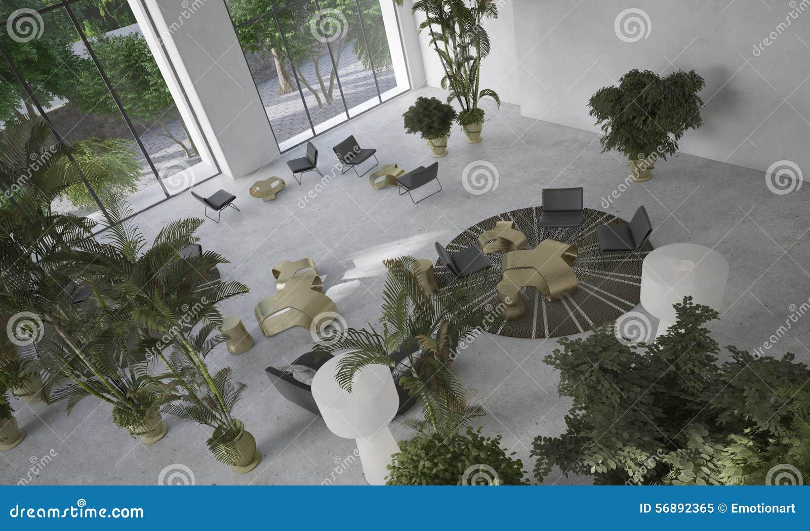 Salone minimalista moderno del progettista