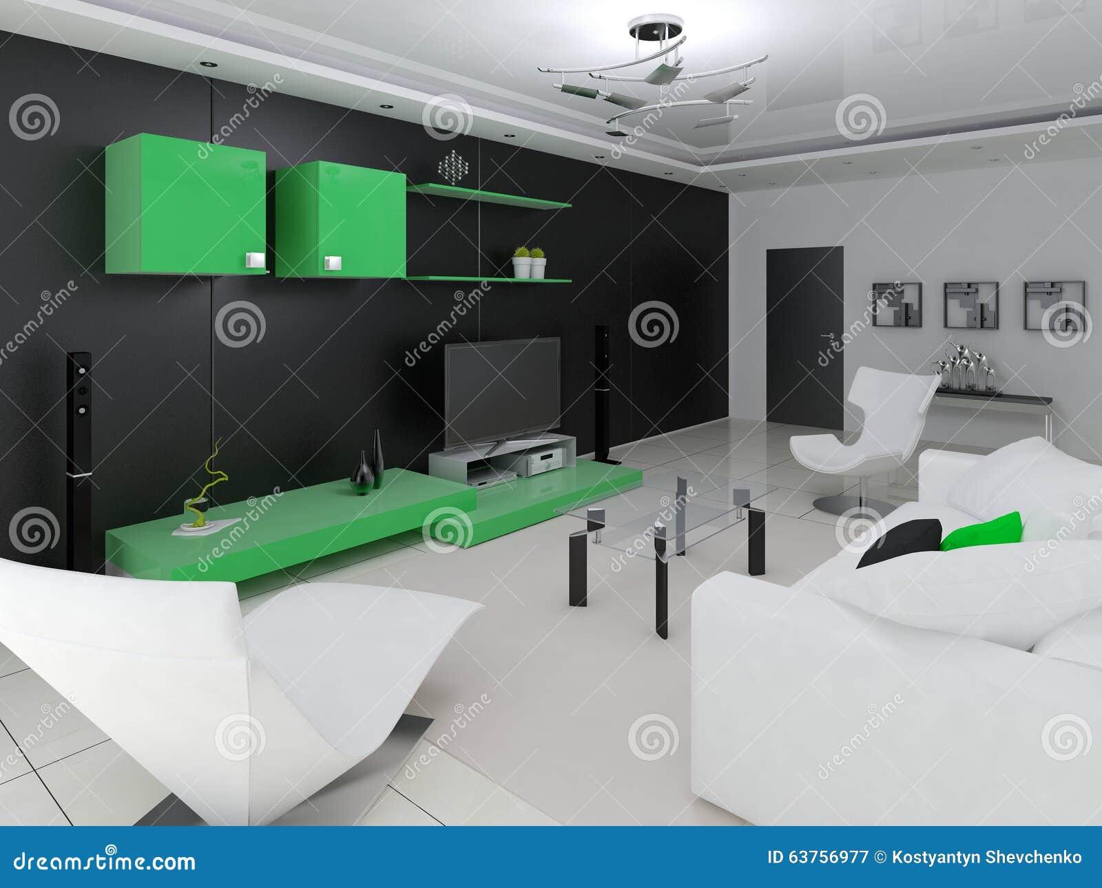 Salone moderno illustrazione di stock immagine 63756977 for Salone moderno